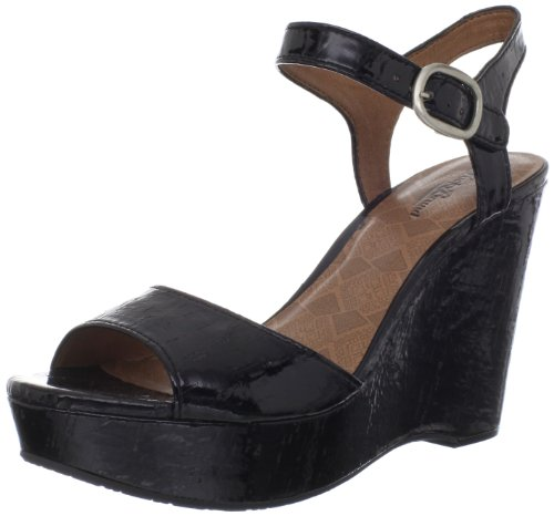 Lucky Brand Women's Lindey Black Ankle Strap 4 UK