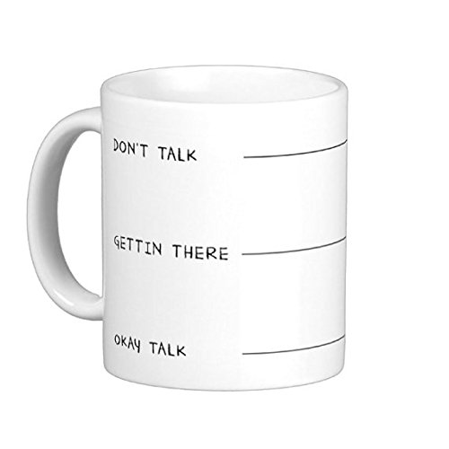Pair Of Don'T Talk To Me Yet 15 Ounce Coffee Mugs - Custom Coffee / Tea Cups - Dishwasher And Microwave Safe