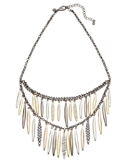 M&S Collection Encrusted Diamanté Drop Necklace