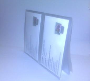 Amazon Com Double Plastic Picture Credit Card Vinyl