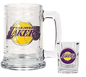 NBA Los Angeles Lakers Boilermaker Set - Primary Logo by Great American Products