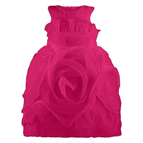 FEST vestito, costume per bambine in Rose Chiffon Rosa rosa 122 (Etikett 130)