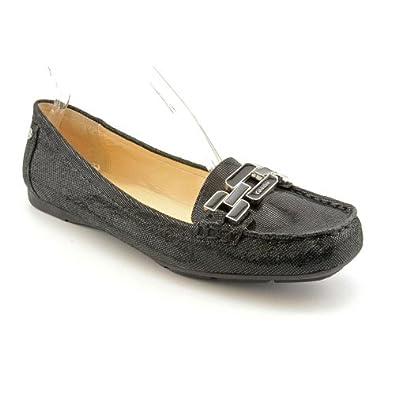 Amazon.com: Calvin Klein Ricki Womens Size 7.5 Black Leather Loafers