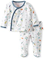 Magnificent Baby Baby-Boys Newborn Long Sleeve Kimono Top and Pants, Rockets, Premie