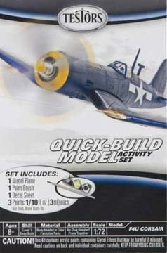 Testors F4U Corsair Quick Build Aircraft Model Kit (1:73 Scale)