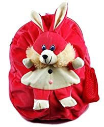 Richy Toys Rabbit Cute Teddy Soft Toy School Bag for kids, Travelling Bag, Carry Bag, Picnic Bag, Teddy Bag (Pink)