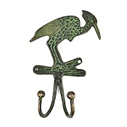 IndianShelf Handmade Bronze Woodpecker Bird Hooks Cabinet Clothes Mugs Coat Hat Key Holder Online