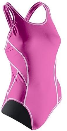 Sugoi Women's Swim Racer Contrast, Raspberry, 32