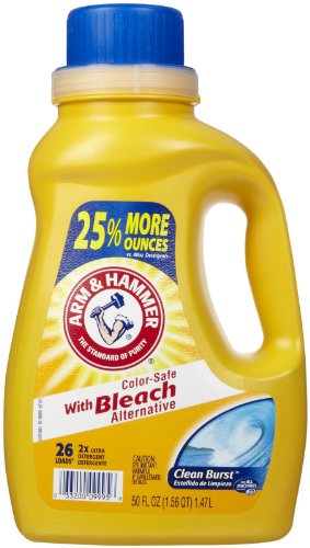 Arm & Hammer Liquid Laundry Clean Burst with Bleach, 50 Fluid Ounce