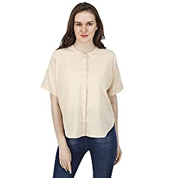 Women's Beige Shirt, Short Sleeves, Trendy/Styish/Smart/Casual Top/Shirt Wear for Women and Girls, Pink