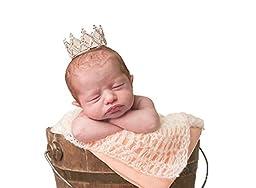 Cutie Baby Newborn Baby Tiara Crown Rhinestones Crystal Photo Prop (Tiara-Dai)