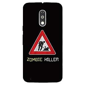 Back Cover for Moto G (4th Gen) Zombie Killer