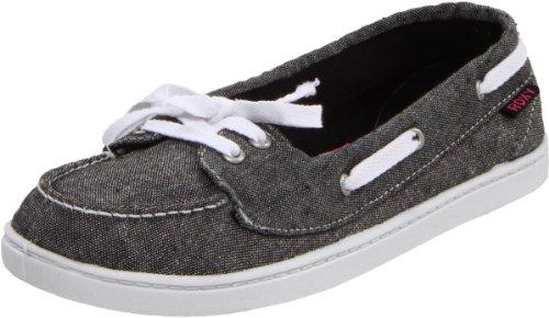 Roxy Women's Ahoy Boat Shoe,Black,8.5 M US