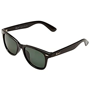 Gafas de Sol de Moda Polarizadas estilo Wayfarer - Outlet Sunglasses - Marca Retro / Vintage Baratas para Mujer y Hombre - Deportivas - Funda y Toallita Limpiadora GRATIS - Compra Ahora Online ! (Negro / G15 (verde/gris) Polarizado)