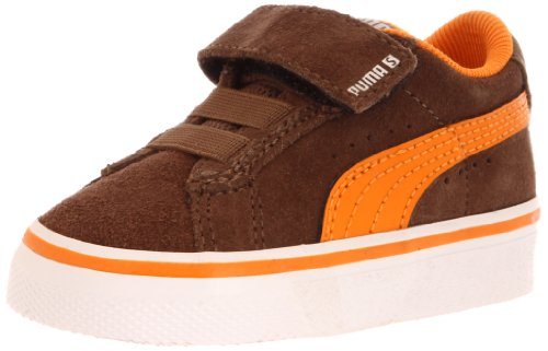 Puma Puma S Vulc V Sneaker (Infant/Toddler/Little Kid),Teak/Flame Orange/White,6 M US Toddler