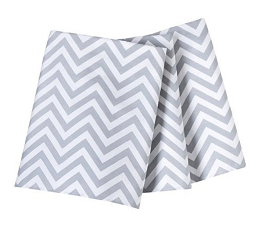 Circo® Single Pleated Cotton Crib Skirt, Gray Chevron - 1