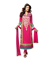 Monalisa Fabrics Women's Unstitched Dress Material (2254111_Pink _Free Size)