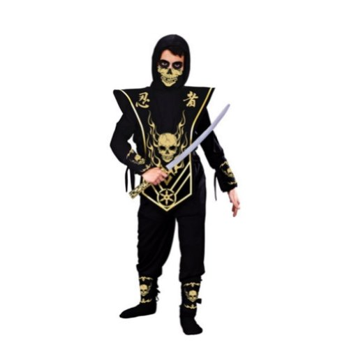 Fun World Costumes Boys Gold Skull Lord Ninja With Mask Costume