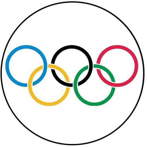 Giochi Olimpici (Badge/Magnet Portachiavi/apribottiglie), Olympics Rings, Keyring Bottle Opener (58mm)