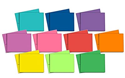 Blank Note Cards - Multi-Color Pack - 40 Thank You Note Cards - Matching Color Envelopes Included