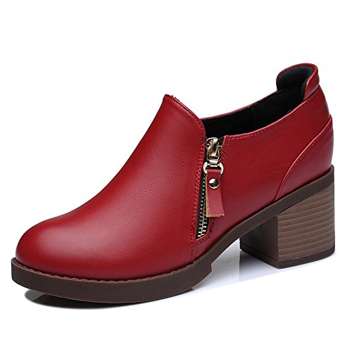 centenary-womens-enticing-simple-design-round-mouth-artificial-leather-boots