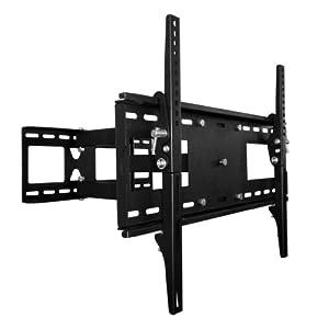 plasma lcd flat screen tv articulating full motion single arm wall mount bracket for. Black Bedroom Furniture Sets. Home Design Ideas