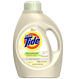 Tide 2x Ultra Pure Essentials With Baking Soda Liquid White Lilac Scent 100 Fl. Oz. (Pack of 4)
