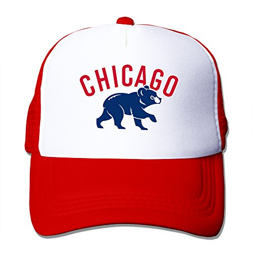 [Red HGLENice Chicago Cubs Unisex Adjustable Baseball Trucker Hat One Size] (Cow Head Hat Adult)
