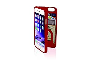 EYN Products Case with Storage Space & Mirror Carrying Case for Apple Devices - Retail Packaging - Red
