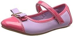 Bubblegummers Girls Udela Purple and Pink Indian Shoes - 2 kids UK/India (19 EU) (3119015)