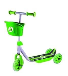 Stiga - Patinete infantil para principiantes (3 ruedas), color verde y negro