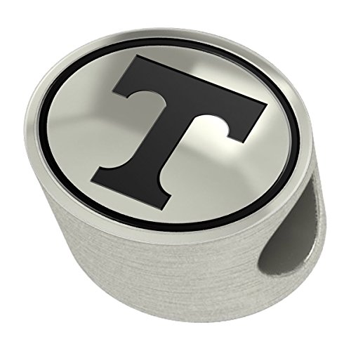Tennessee Volunteers Silver Antiqued Bead Fits Most European Style Charm Bracelets