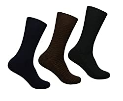 Supersox Mens Winter Socks Reverse Design Pack of 3