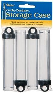 "Plastic Storage Tubes 4""X3/4"" 4/Pkg-"