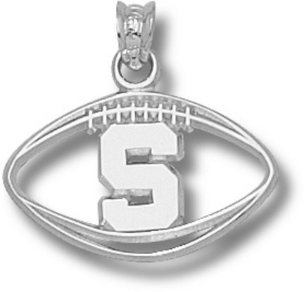 Michigan State Spartans MSU NCAA Sterling Silver Charm