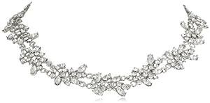 Nina 'Geranium' Floral Melange Collar Double Strand Necklace