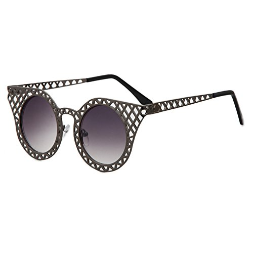 TIJN® Cat Eye Frame Round Lens Cut-out Sunglasses for Women