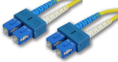Lynn Electronics Scscdupsm-7M Sc-Sc 9/125 Duplex Single-Mode Fiber Optic Patch Cable, 7-Meter, Yellow