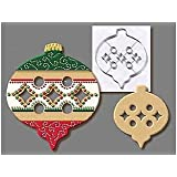 R & M International Giant 7.5 Inch Christmas Ornament Cookie Cutter with Interior Cut-out