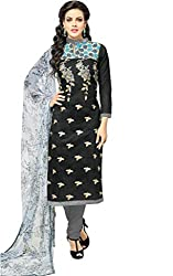 ShivFab Present All New Formal Wear Embroidered Black Color Dress Meterial.(COTTON DRESS) ANGROOP DAIRYMILK VOL_10