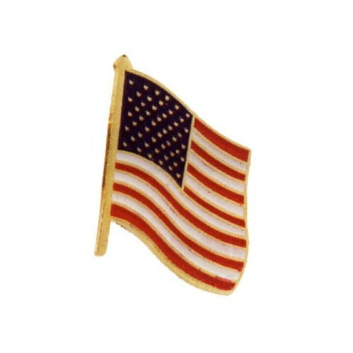 American USA United States of America Stars and Stripes Tie Tack NOT Clip, Bar FULL Color with Gold Border & Tie Tack Backing GREAT DEAL !! (United States Tie Clip compare prices)