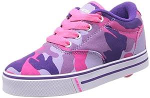 Heelys Launch Skate Shoe (Toddler/Little Kid/Big Kid),Purple Camouflage Canvas,4 M US Big Kid