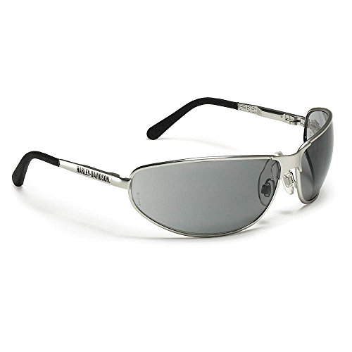Harley-Davidson HD502 Safety Glasses with Silver Matte Frame and Gray Tint Hardcoat Lens (Harley Davidson Supplies compare prices)