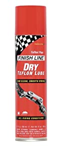Finish Line Dry Teflon Bicycle Chain Lube Aerosol Spray