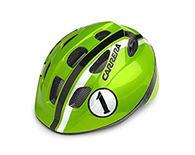 Carrera Boy's Pepe Cycle Helmet - Lime Race, 48 - 53 cm by Carrera