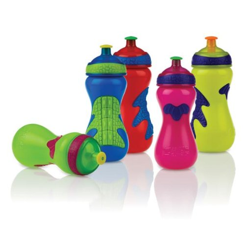 Nuby Gator Grip Sports Bottle With Pop-Up Sipper (48 Pieces) - Nuby Gator Grip Sports Bottle With Pop-Up Sipper. 15 Oz. Sports Bottle With Easy To Use Cool Sips Spout, Screw Cap For Easy Cleaning, Pe