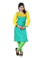Arista Designer Ready To Wear Green Kurti Size - 38 (KR89)