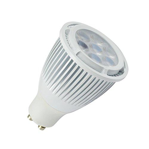 2X Lohas Dimmable 8W Gu10 Soft White Led Spotlight 70W Equivalent Energy Saving Light Bulbs,Conjoined Lens Cover,Ivory White Alumium,7Pcs Of 2835 Leds Inside