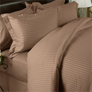 Striped Taupe Queen Size 300 thread count 8PC