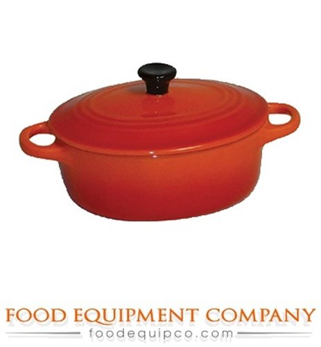 Paderno World Cuisine .28 Quart Oval Ceramic Casserole, Orange (Small Oven Proof Dishes compare prices)